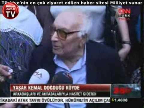 Yaşar Kemal doğduğu köyde