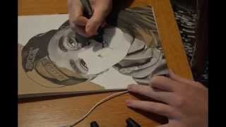 Drawing Tupac Shakur with Tria Marker Pens - 2pac Speed Timelapse