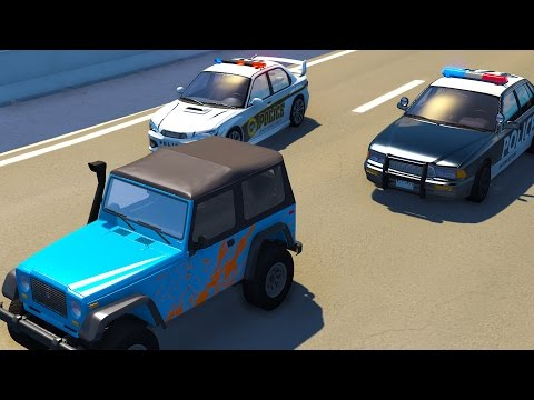 High Speed Police Chases and Roadblock Crashes! - BeamNG Drive Crash Test Compilation Gameplay