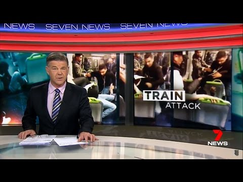Seven News. Arab On Black Attack. (Multicultural Nightmare Melbourne. Sunbury Train)