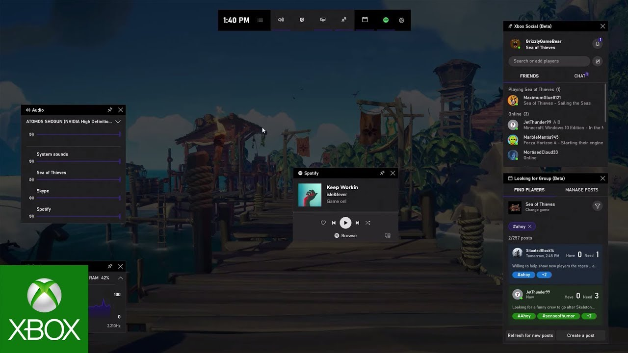 Customize Xbox Game Bar on Windows 10 devices | Xbox Support