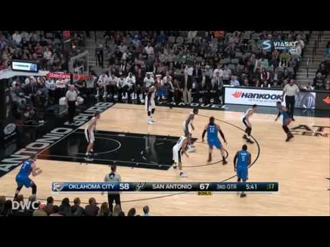 Danny Green Defense On Russell Westbrook, January 31, 2017