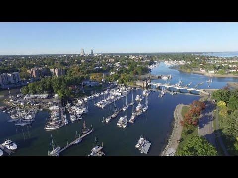 Aerial view of Glen Island Park, Westchester, New York