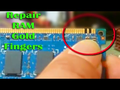 RAM Fingers: Repair Gold plated connectors (2020)