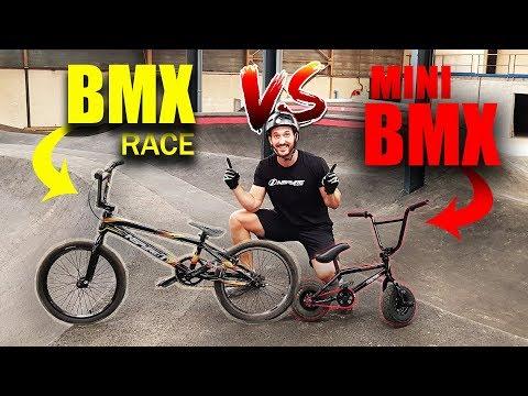 JE RIDE UN TERRAIN SECRET !   ( Bmx Race VS Mini Bmx)