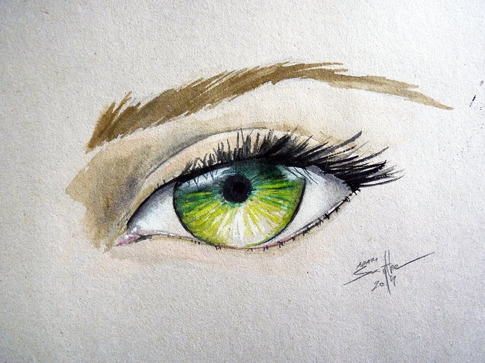 watercolor eyes tutorial images