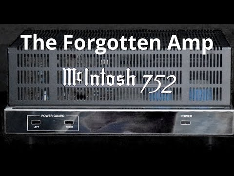 McIntosh 752 Vintage Stereo Power Amplifier - Bench Testing Classic Audio Equipment. Often Forgotten