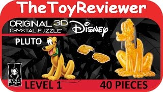 Original 3D Crystal Puzzle Disney Pluto 40 Pieces BePuzzled Unboxing Toy Review by TheToyReviewer