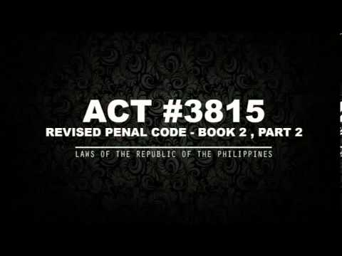 REVISED PENAL CODE - BOOK 2 Pt. 2 [AUDIOBOOK]