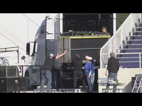 Crews Begin Work Ahead Of Trump Visit to Mobile