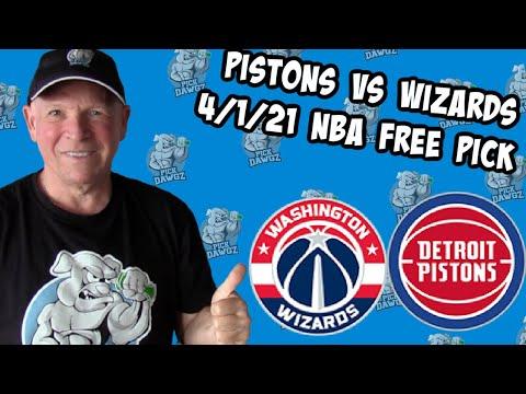Detroit Pistons vs Washington Wizards 4/1/21 Free NBA Pick and Prediction (NBA Betting Tips)