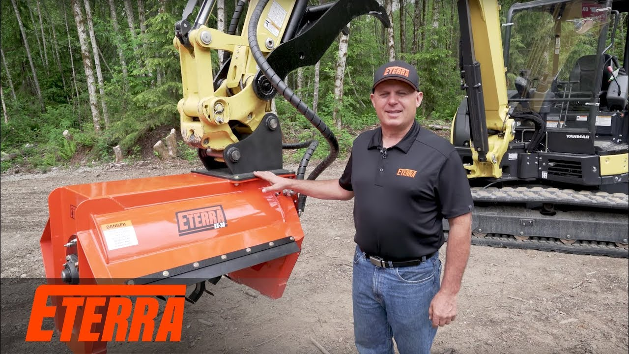 The Best Selling Excavator Flail Mower by Eterra   EX-30