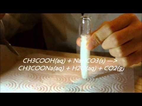 esperimento acqua e bicarbonato di sodio