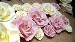 Бумажные цветы для свадьбы от Светланы Копцевой.