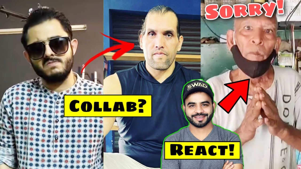 CarryMinati & Great Khali Collab?, Swad Official React on Baba's Apology!, GAURAVZONE