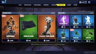 NEW SUPERSONIC SKIN + EDIT STYLES & WRAPS: Fortnite Item Shop