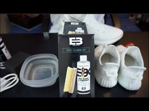 HOW TO CLEAN ADIDAS YEEZY 350 V2 CREAM WHITE   EBKICKS CLEANER   GIVEAWAY