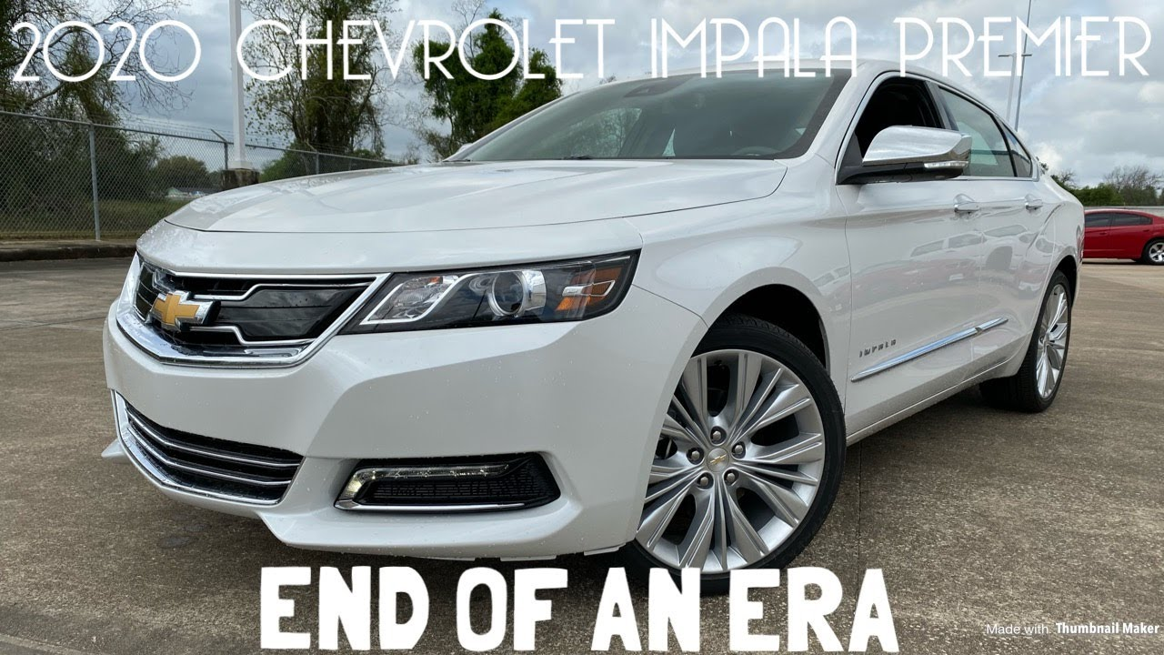 2020 Chevrolet Impala Premier Startup Review Youtube
