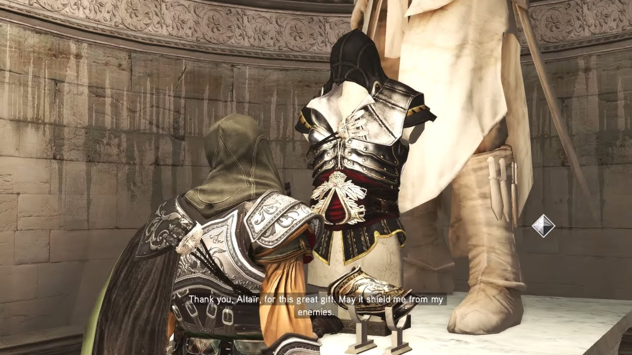 Assassin S Creed 2 Ps4 Ezio Unlocks Altair S Armor Best Armor