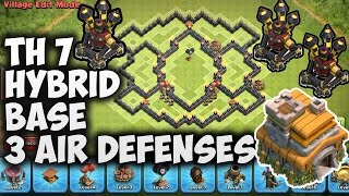 "Town Hall 7 (TH7) Hybrid Base 3 Air Defenses | ""New Update"" 