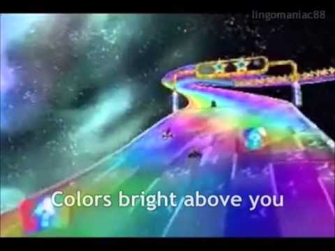 Mario Kart 7 Rainbow Road Lyrics Video
