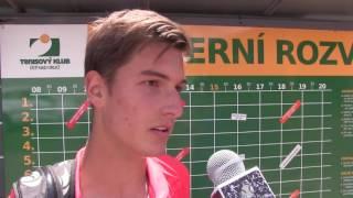 Daniel Trčka po prohře v prvním kole kvalifikace na turnaji Futures v Ústí n. O.