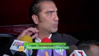 Alejandro Fernández responde por fin a la prensa sobre las fotos enfiestado