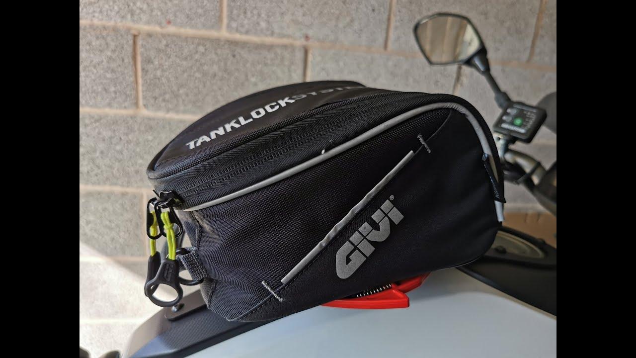 Givi tank bag EA123 (5 litre) review & tank lock system - Yamaha MT07 / FZ07
