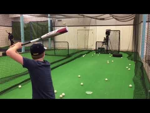 2018 USA Baseball CF Zen Bat Cage Side Hitting Review