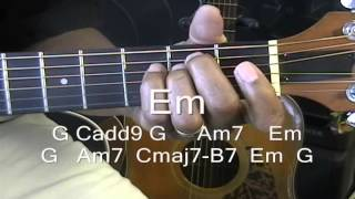 "Sam Cooke ""A Change Is Gonna Come"" How To Play On Guitar Key G Major Transposable w Capo"