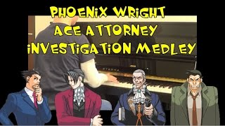Phoenix Wright Ace Attorney Investigation Medley Piano