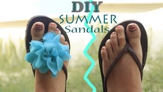 DIY Chanclitas playeras / Summer sandals with flower *Very easy*