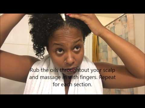 Coconut oil and  Castor oil treatment for hair growth Natural Hair