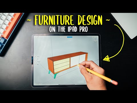 Designing Furniture On The iPad Pro with Shapr3D - For Woodworking