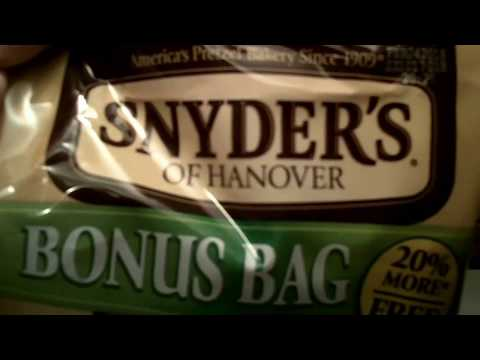 Review of Snyder's of Hanover rods pretzel non gmo project verified.