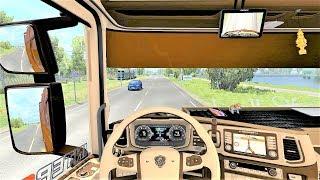 Euro Truck Simulator 2 (v1.35) - Scania S NextGen Tuning V8 sound + Interior [SCS Trailer Mod]