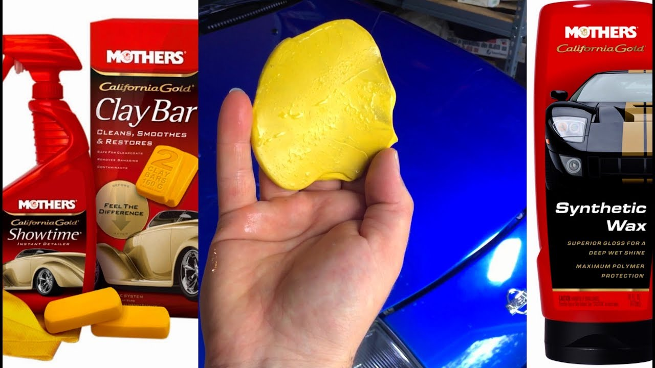 How to Apply Best Mother's California Gold Clay Bar Kit & Synthetic Wax -  Review Test Nissan 300zx