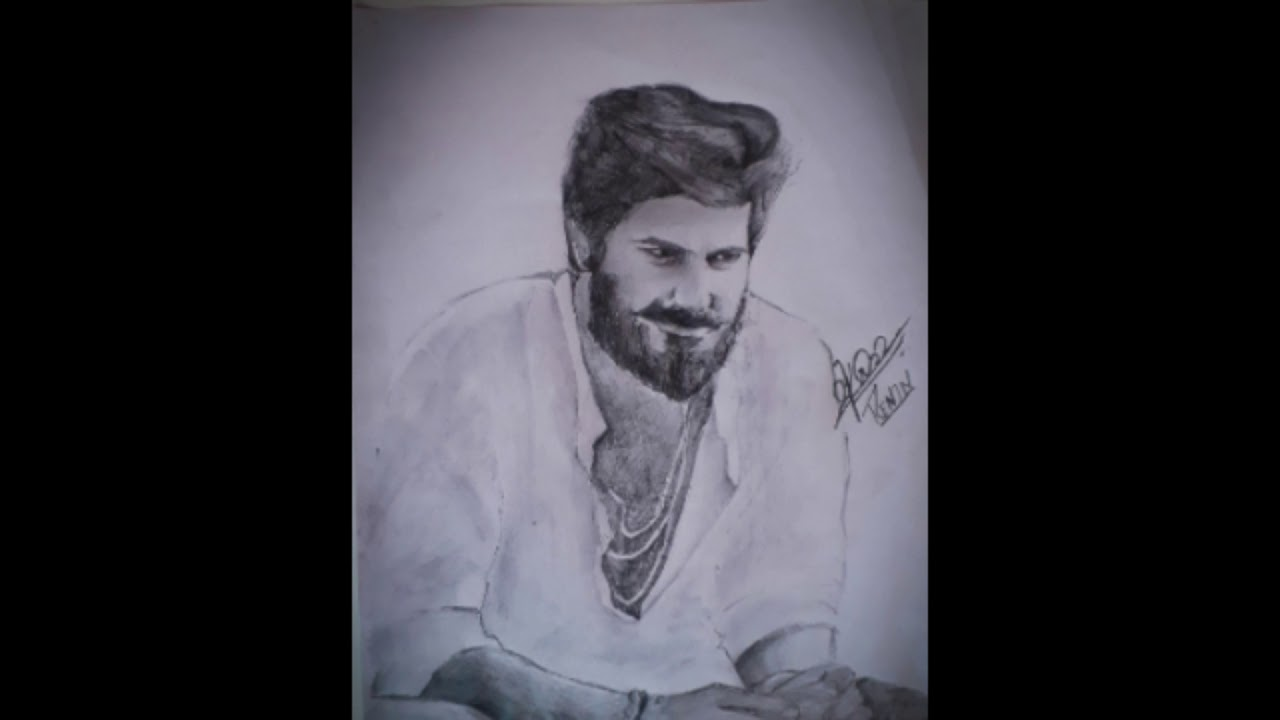 Drawing of dqdulquer salman