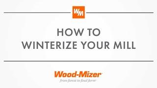 Sawmill Service and Maintenance:  Winterizing your Portable Sawmill.