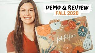 FABFITFUN FALL 2020 UNBOXING: DEMO & REVIEW