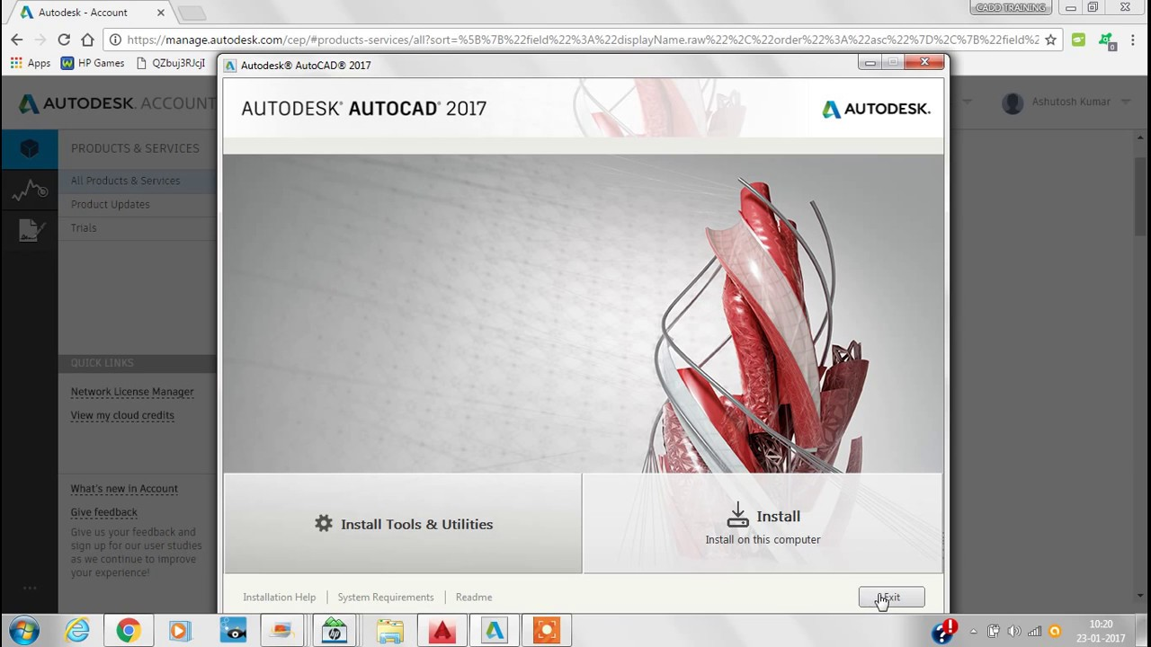 How to Download & install AutoCAD 2017 !! free with 3 years licence
