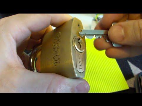 (149) TESA Padlock With Half Euro Cylinder From Adrian Leon