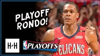 Rajon Rondo Full Game 3 Highlights Pelicans vs Blazers 2018 Playoffs - 16 Pts, 11 Assists!