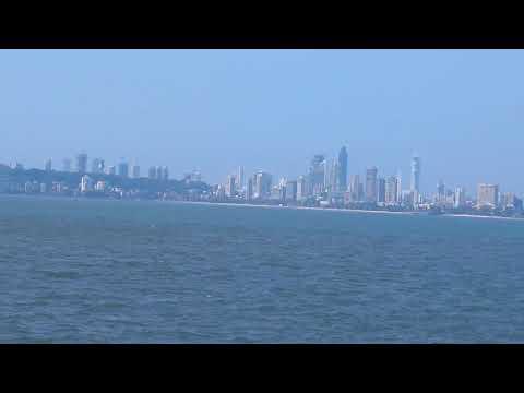 Skyline from marine drive, Mumbai, India