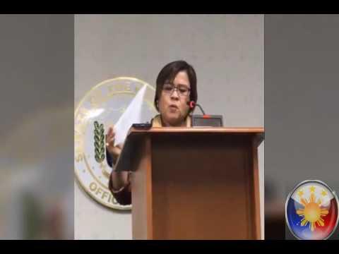DE LIMA FULL SPEECH at Senate (Nagtantrums at Galit na Galit kay Duterte) - Sept 28 2016