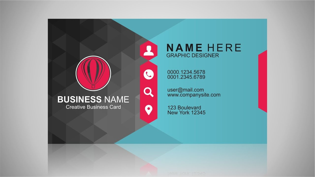 Business card design inspiration coreldraw tutorial youtube reheart Images
