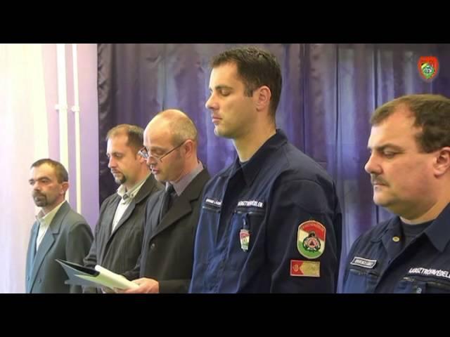 Polgári védelmi önkéntes mentőcsoportok eskütétele