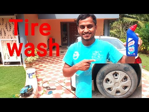 Tire wash with Harpic | Nitto Rai
