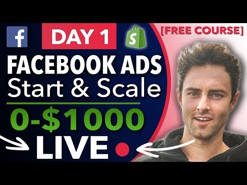 Facebook Ads Tutorial For Shopify | Targeting & Testing Methods [0-$1000] LIVE Case Study DAY 1 thumbnail