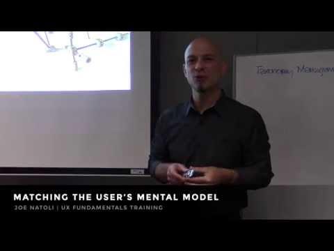 Matching The User's Mental Model: Joe Natoli | UX Training